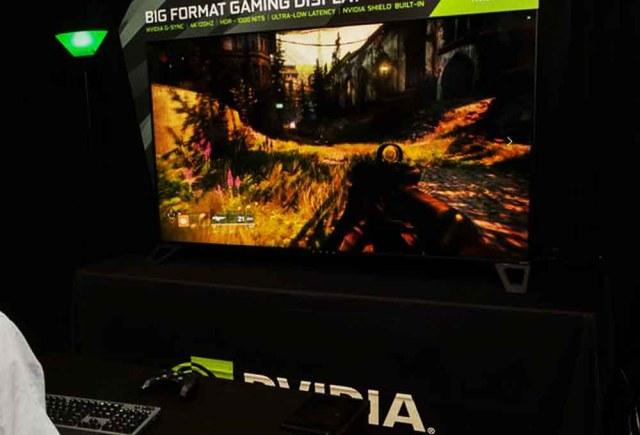 écran géant gaming Nvidia