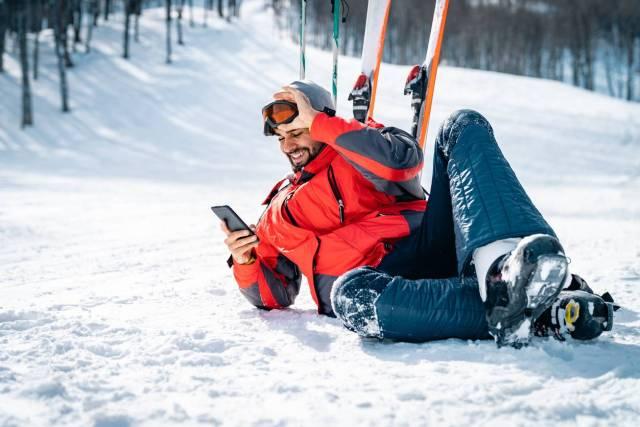 smartphone au ski