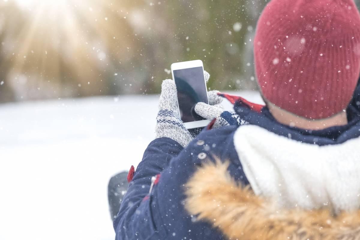 smartphone et ski