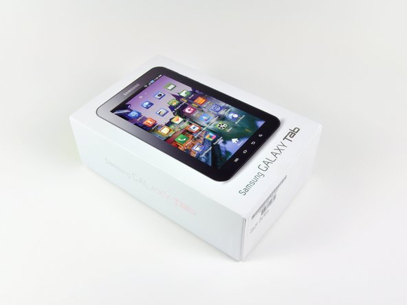 The Samsung Galaxy Tab retail box