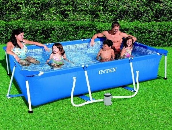 piscine tubulaire rectangulaire intex 3m x 2m x 75cm 28275fs