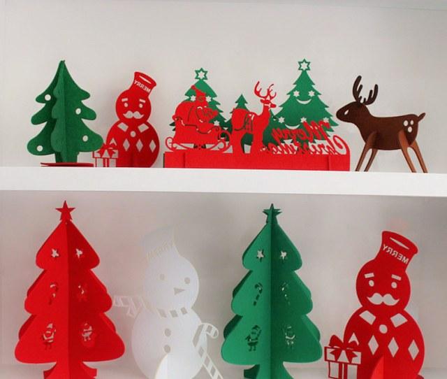 Christmas Arrangement Of Desktop Mini Christmas Tree Ornaments Christmas Decorations Santa Snowman Elk