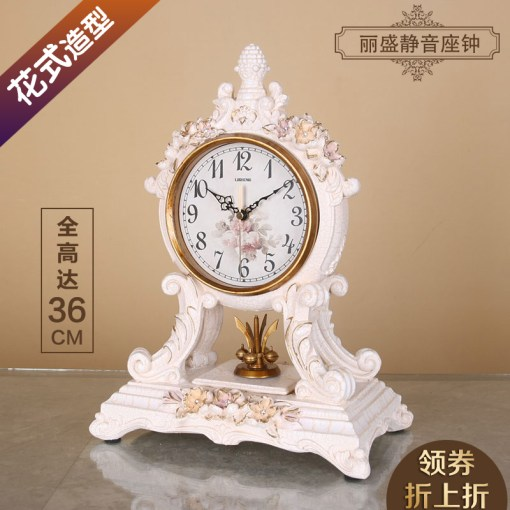 China Decorative Table Clock  China Decorative Table Clock Shopping     Get Quotations      Lai sheng european flower bedroom clock sit pendulum clock  bedside clock retro living room decorative table