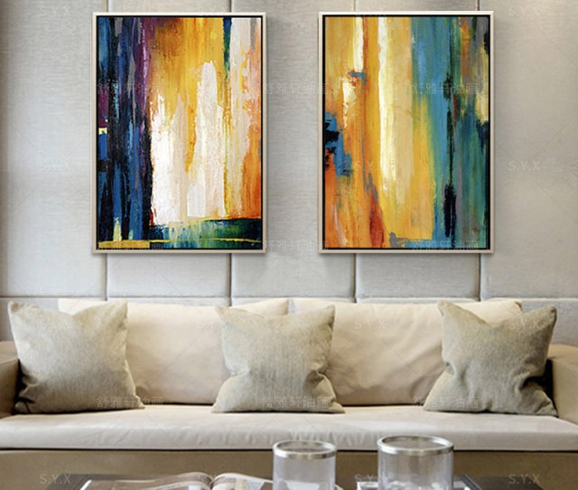 Get Quotations  C B Modern Abstract Painting Decorative Painting The Living Room Bedroom Entrance Paintings Handmade Oil Painting American Creative