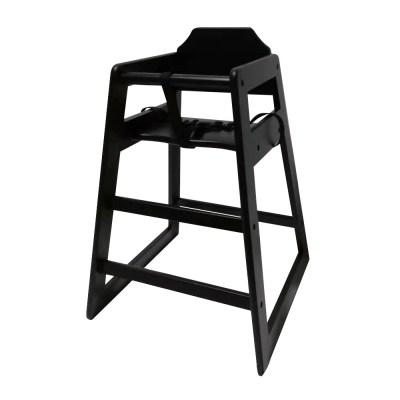 Chaise haute enfant en bois noir