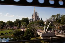 PeopleMover View of Cinderella Castle - Magic Kingdom Attraction