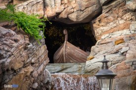 Waterfall and Boat - Maelstrom - Epcot Attraction