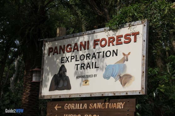 Sign - Pangani Forest Exploration Trail - Animal Kingdom Attraction