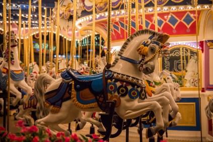 Prince Charming Carousel at Night - Magic Kingdom
