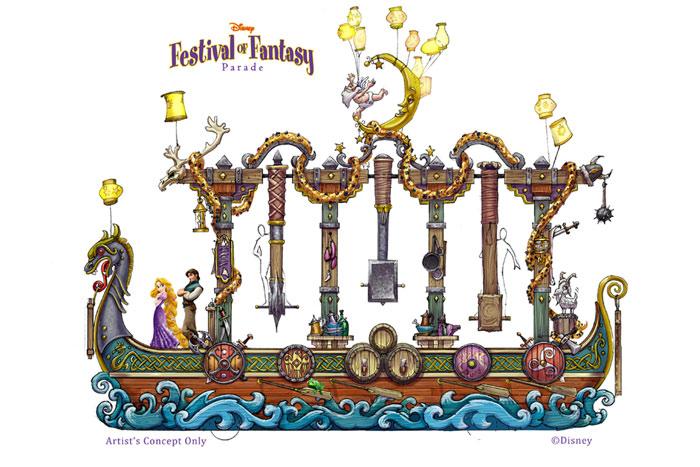 Festival of Fantasy - Tangled Float Concept Art