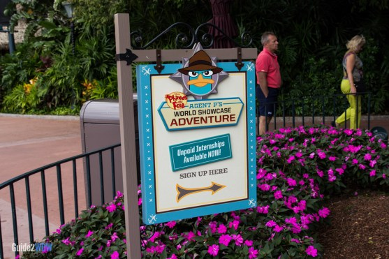 Sign - Agent P's World Showcase Adventure - Disney World