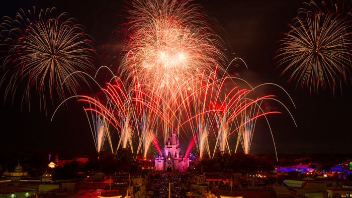 Disney World Fireworks - July 4th Celebration