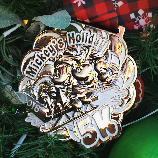 runDisney 5K medal - Mickey's Holiday 5K