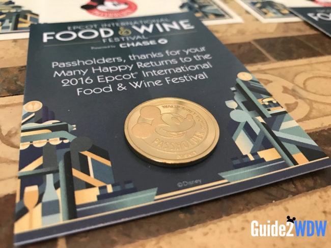 Disney World Freebies - Epcot Food & Wine Coin