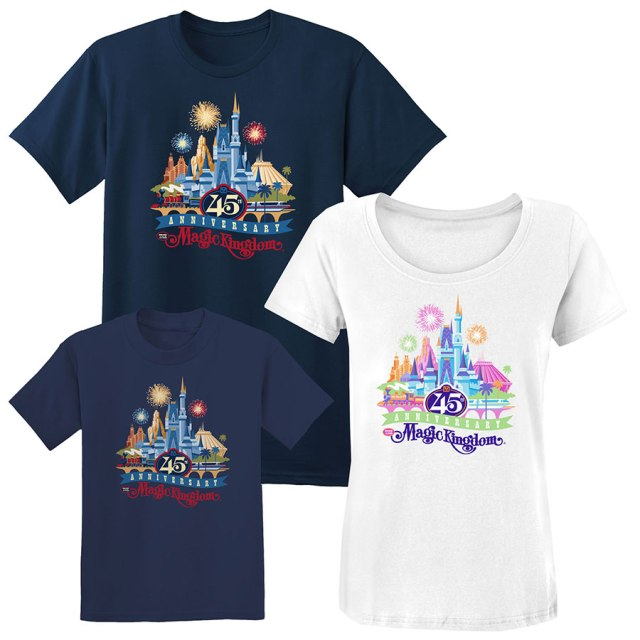 Disney World 45th Anniversary Merchandise -Shirts 2