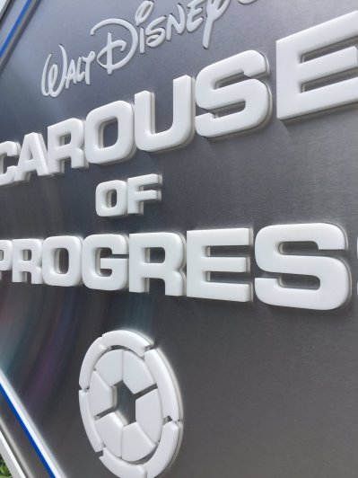 Carousel of Progress - New Sign - Closeup