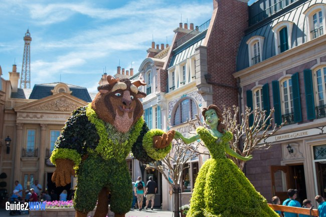 Belle and Beast Topiary - Topiaries at the Epcot Flower and Garden Festival