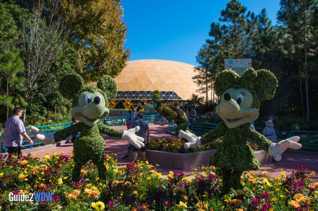 Mickey Minnie Goofy - Mickey and Friends - Topiaries at the Epcot Flower and Garden Festival