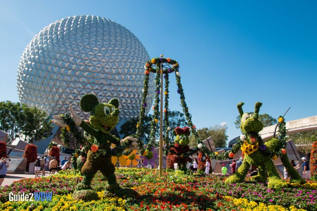 Mickey and Friends - Topiaries at the Epcot Flower and Garden Festival