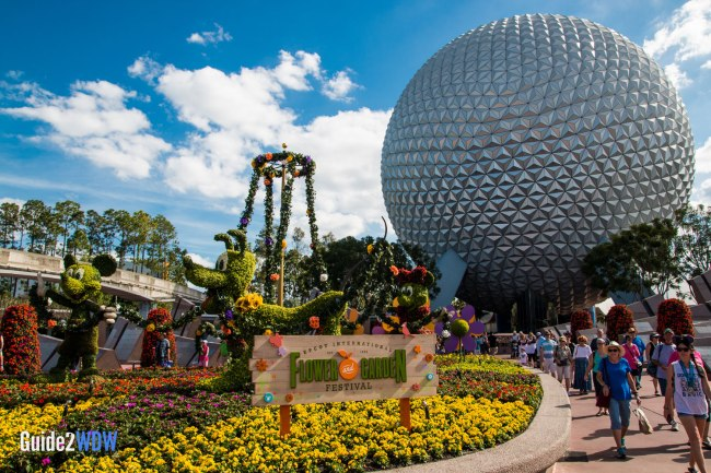 Epcot Entrance - Topiaries at the Epcot Flower and Garden Festival