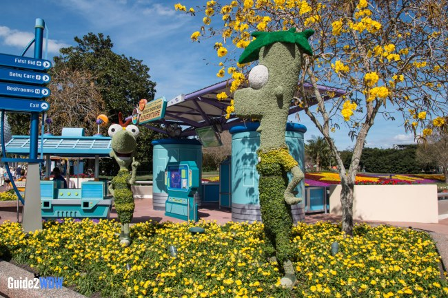 Phineas and Ferb Topiary - Topiaries at the Epcot Flower and Garden Festival