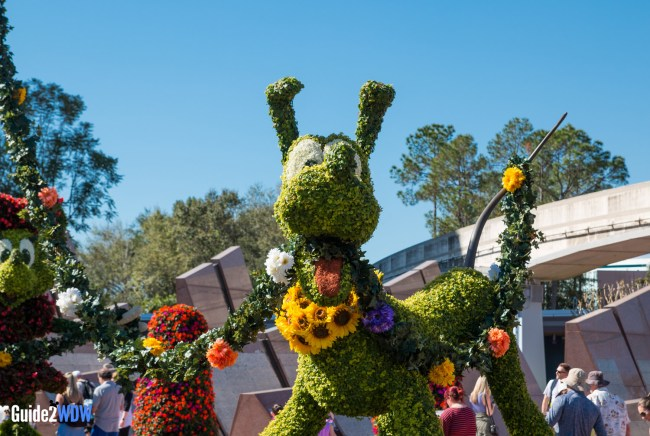 Pluto - Topiaries at the Epcot Flower and Garden Festival