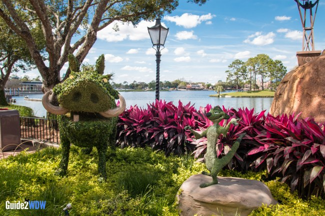 Timon Pumba Topiary Lion King - Topiaries at the Epcot Flower and Garden Festival