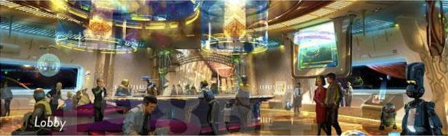 Star Wars resort lobby - Disney World Concept Art