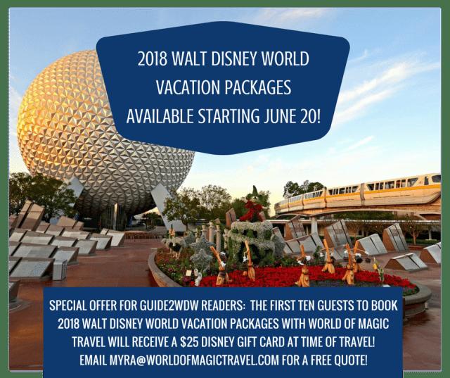 2018 Walt Disney World Packages - Promo