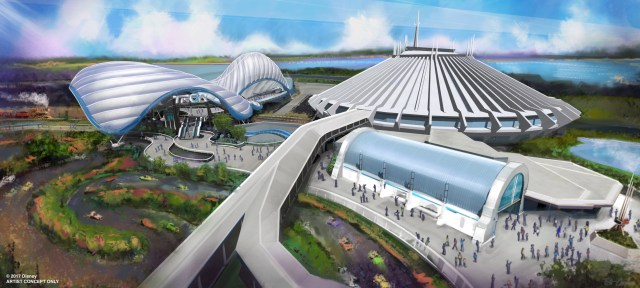 Concept Art - Tron Coaster at Disney World