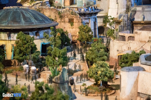 People in City Center - Star Wars: Galaxy's Edge Model - Disneyland and Disney World