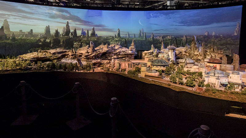 Star Wars Land Model - D23 2017