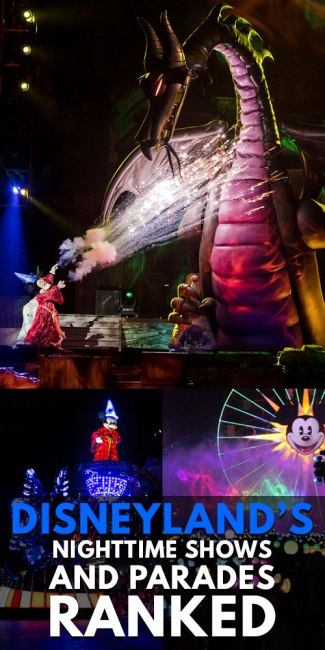 Disneyland's Nighttime Shows and Parades - Ranked