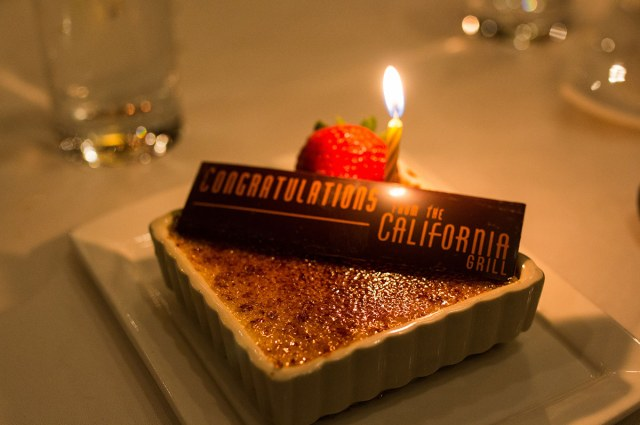 Dessert - California Grill - Disney World Restaurant - Romantic