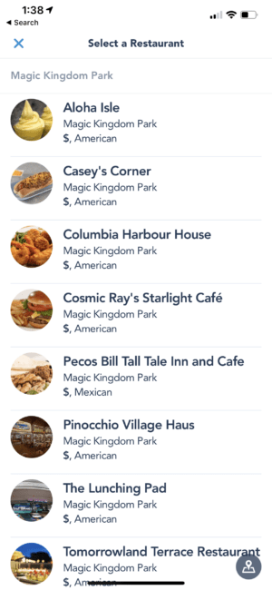 How To Mobile Order - Step 2 - Disney World App