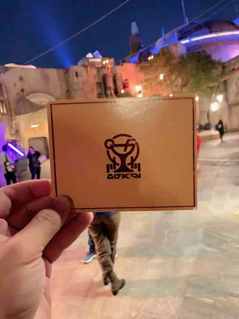 Cantina Entry Card- Oga's Cantina Review - Star Wars Galaxy's Edge - Guide2WDW