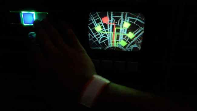 Glowing Button- Millennium Falcon Smugglers Run Ride Guide- Guide2WDW