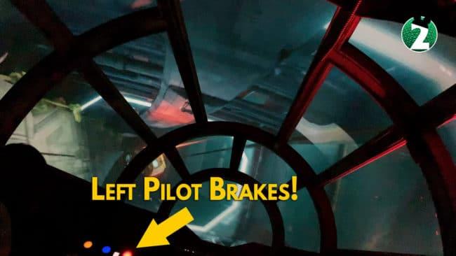 Left Pilot Brakes - Millennium Falcon Smugglers Run Ride Guide
