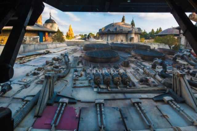 Millennium Falcon - Backside - Star Wars Galaxy's Edge - Disneyland
