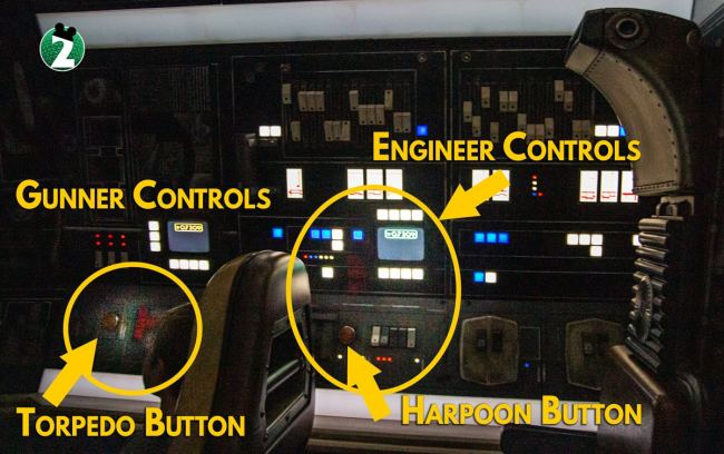 Side Control Panel for Engineers and Gunners - Millennium Falcon Smugglers Run Ride Guide