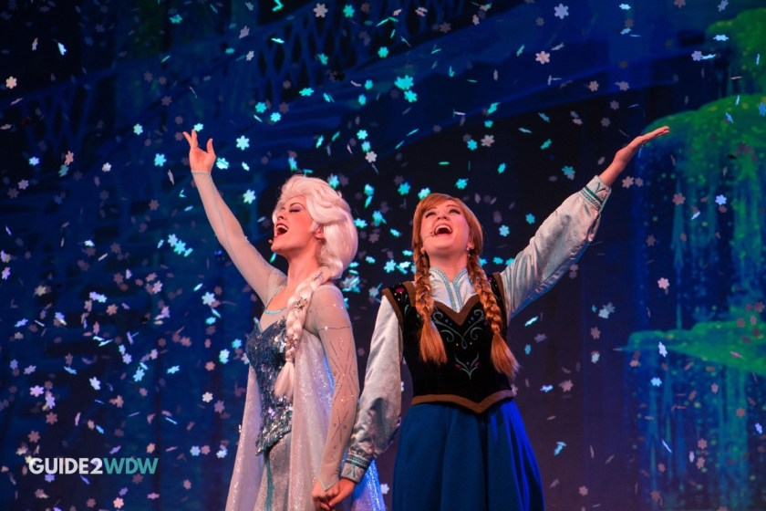 Anna and Elsa - Frozen Sing Along - Disney's Hollywood Studios Attraction - Disney World