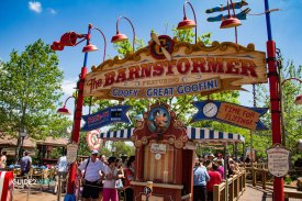 Barnstormer Entrance - Magic Kingdom Roller Coaster