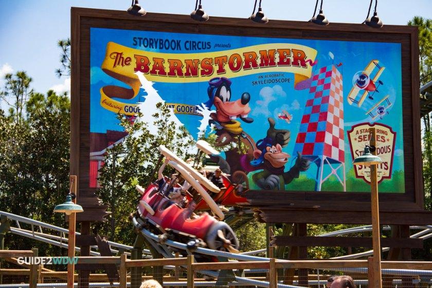 Barnstormer Ride - Magic Kingdom Roller Coaster