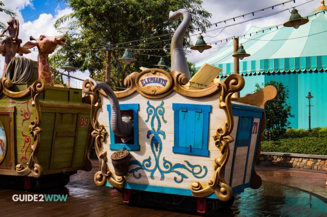 Casey Jr Splash and Soak Magic Kingdom Elephants