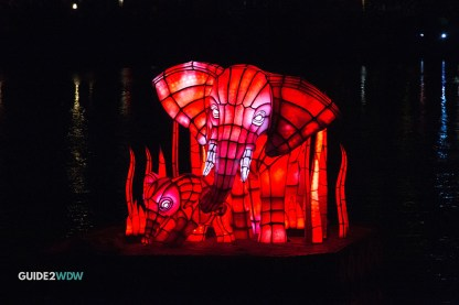 Elephant Float - Rivers of Light - Animal Kingdom Show - Disney World Entertainment - Guide2WDW