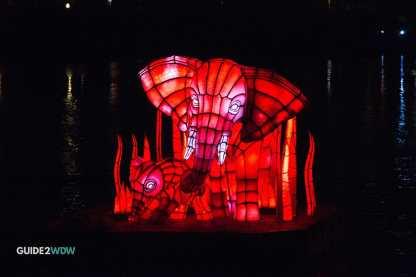 Elephant Float - Rivers of Light - Animal Kingdom Show - Disney World Entertainment - Guide2WDW
