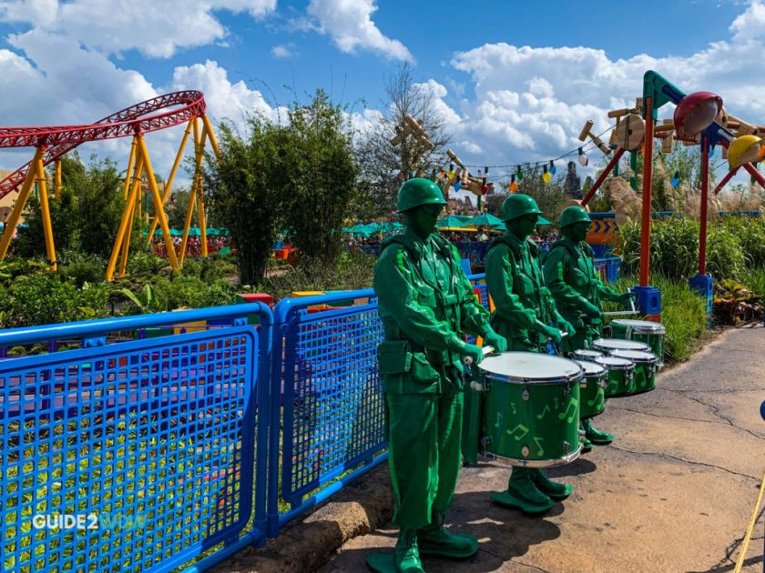 Green Army Men Drum Corps - Toy Story Land - Disney World