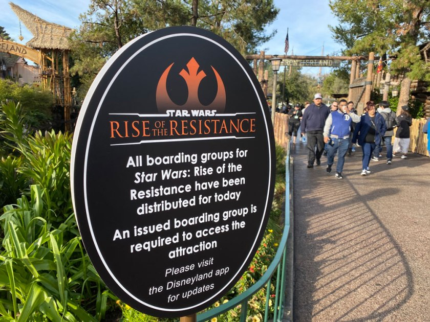 Rise of the Resistance Sign Disneyland