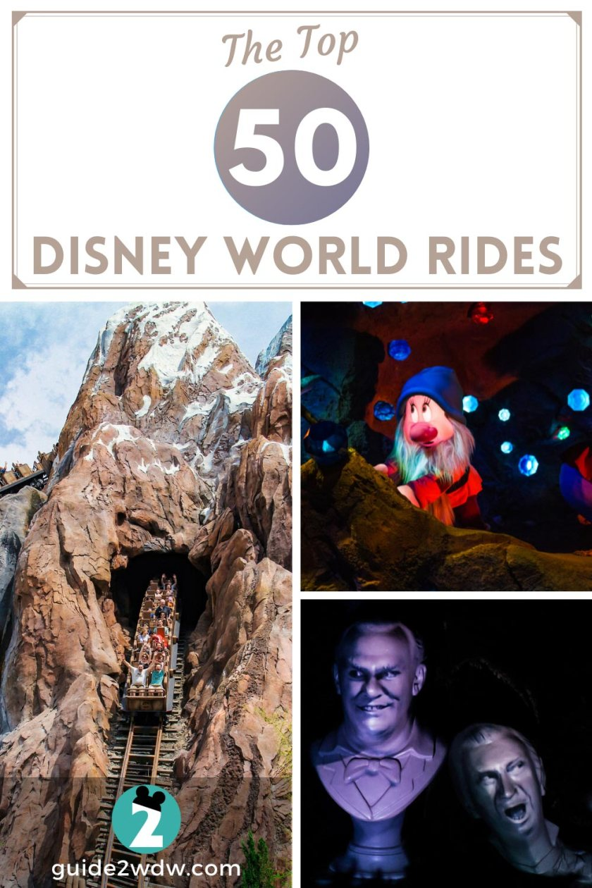 The Top 50 Disney World Rides - Guide2WDW Best of Disney World List