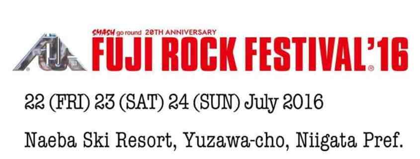Rock à la montagne, le Fuji Festival 2016